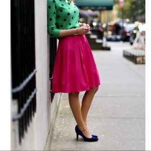 J Crew fuchsia mini skirt